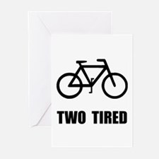 Two Tired Bike Greeting Cards (Pk of 10)