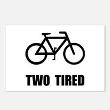 Two Tired Bike Postcards (Package of 8)