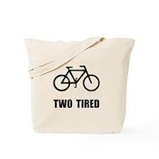 Two Tired Bike Tote Bag