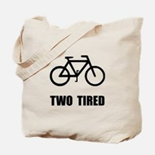 Two Tired Bike Tote Bag