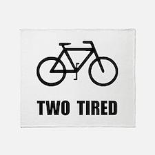 Two Tired Bike Throw Blanket