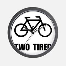 Two Tired Bike Wall Clock