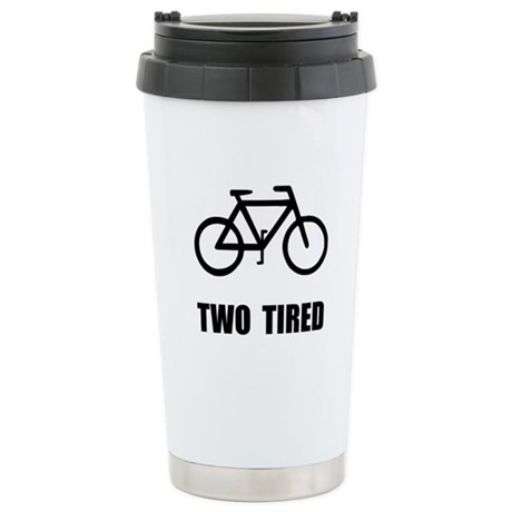 Two Tired Bike Stainless Steel Travel Mug