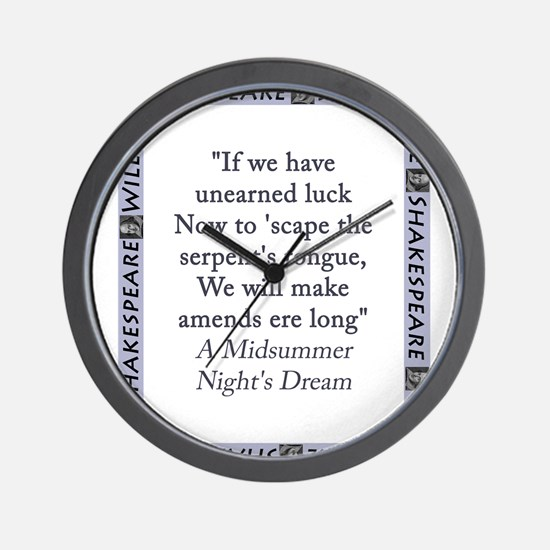 If We Have Unearned Luck Wall Clock