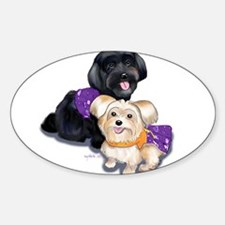 Havanese and Morkie Couple Decal