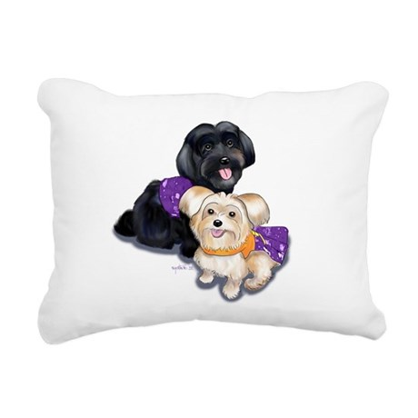 Havanese and Morkie Couple Rectangular Canvas Pill