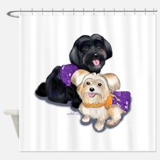 Havanese and Morkie Couple Shower Curtain