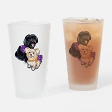 Havanese and Morkie Couple Drinking Glass