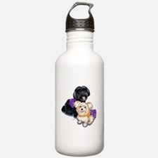 Havanese and Morkie Couple Water Bottle