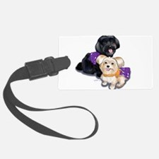 Havanese and Morkie Couple Luggage Tag
