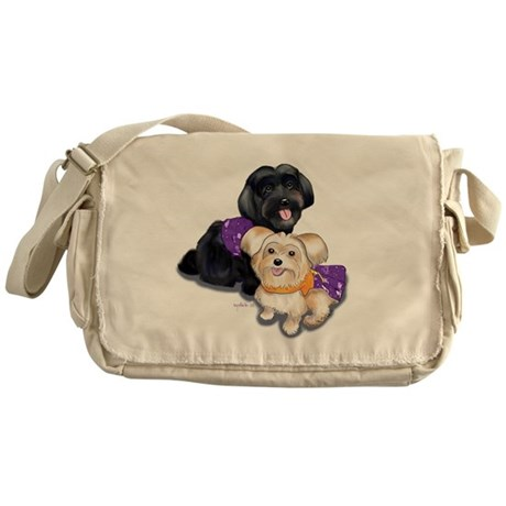Havanese and Morkie Couple Messenger Bag