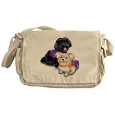 Havanese and Morkie Couple Messenger Bag