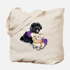 Havanese and Morkie Couple Tote Bag