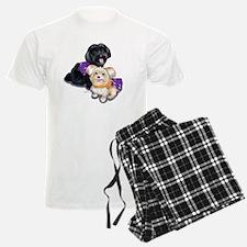 Havanese and Morkie Couple Pajamas