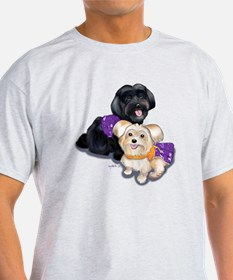 Havanese and Morkie Couple T-Shirt