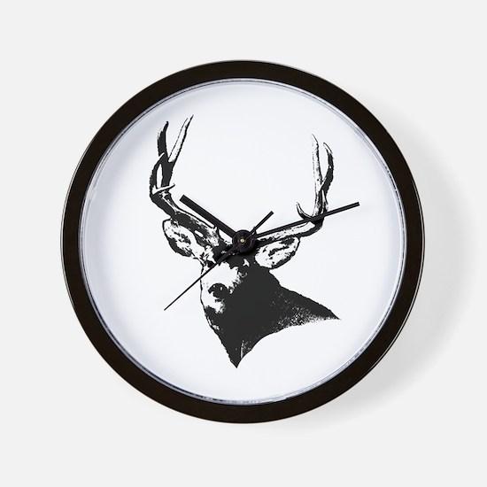 Buck deer head Wall Clock