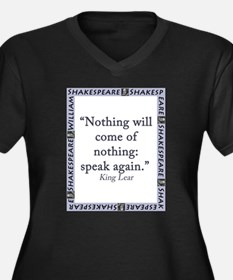 Nothing Will Come of Nothing Women's Plus Size V-N