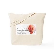 Gandhi Wisdom Tote Bag