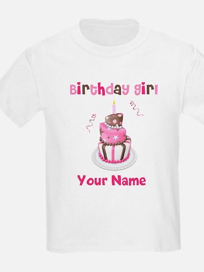 Birthday Girl Cake T-Shirt