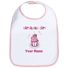 Birthday Girl Cake Bib