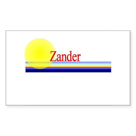 Zander Rectangle Sticker