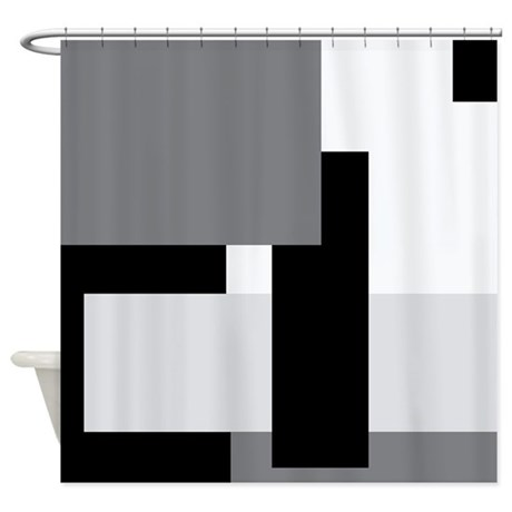 Mono Blocks Shower Curtain