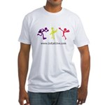 Three guys of Go Eat Give Fitted T-Shirt