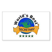 Funny Best secretary Decal