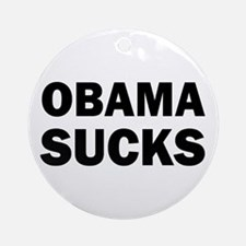 Obama Sucks Anti Obama Ornament (Round)