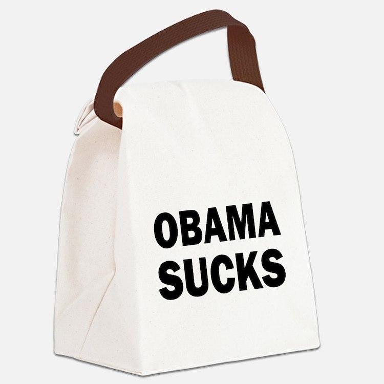 Obama Sucks Anti Obama Canvas Lunch Bag