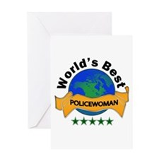 Cute Best police officer Greeting Card