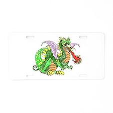 Cute Dragon on castle Aluminum License Plate