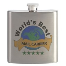 Unique World's greatest mail carrier Flask