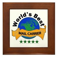Unique World's greatest mail carrier Framed Tile