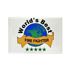 Unique World's greatest fire fighter Rectangle Magnet