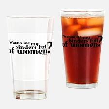 Binders Full of Women Drinking Glass