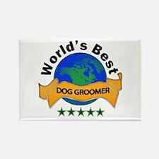 Unique Dog groomer Rectangle Magnet