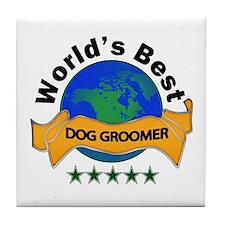 Unique Dog trainer Tile Coaster