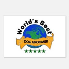 Cool Dog groomer Postcards (Package of 8)