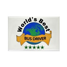 Cool Bus driver Rectangle Magnet (10 pack)