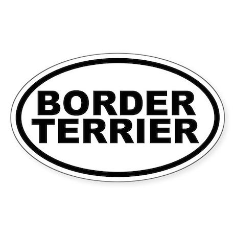 Border Terrier Oval Sticker