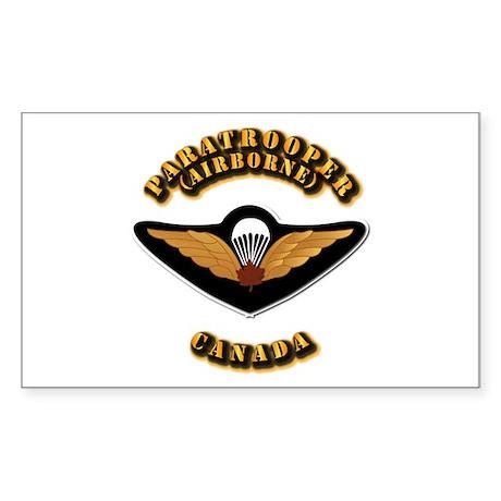 Airborne - Canada Sticker (Rectangle)
