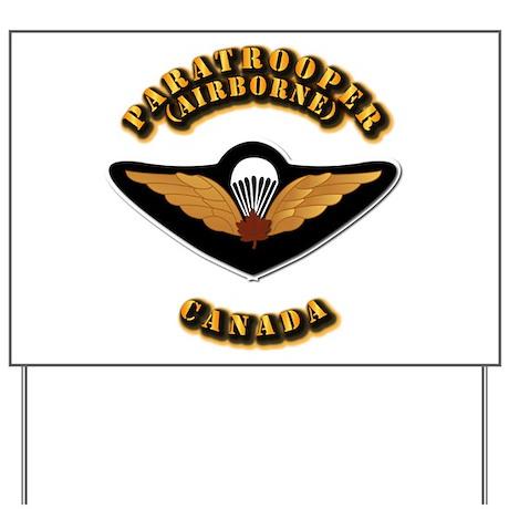 Airborne - Canada Yard Sign