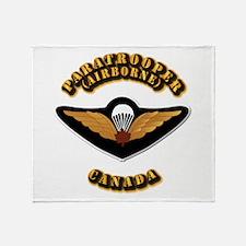 Airborne - Canada Throw Blanket