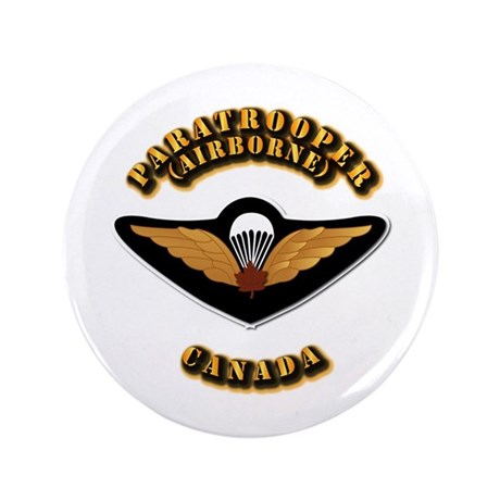 """Airborne - Canada 3.5"""" Button (100 pack)"""