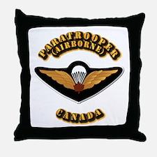 Airborne - Canada Throw Pillow