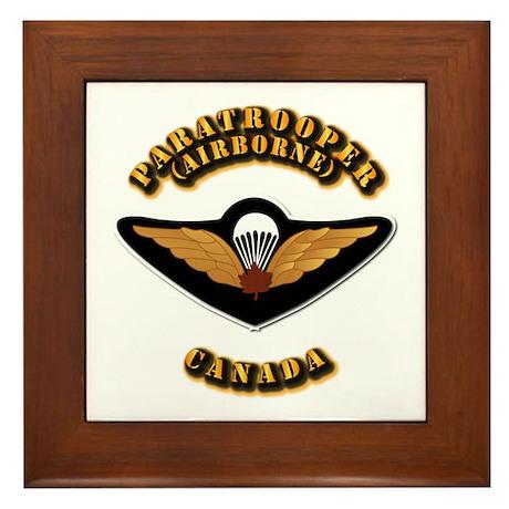 Airborne - Canada Framed Tile