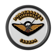 Airborne - Canada Large Wall Clock