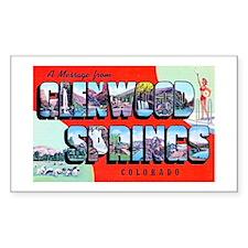 Glenwood Springs Colorado Greetings Decal