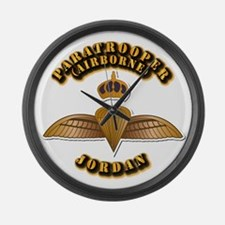 Airborne - Jordan Large Wall Clock